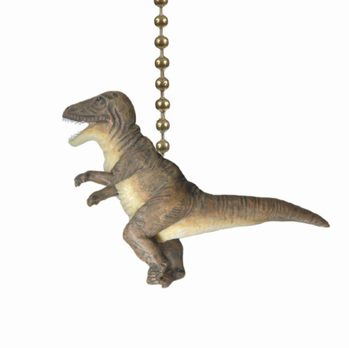 T Rex Dinosaur Ceiling Fan Light Dimensional Pull Resin