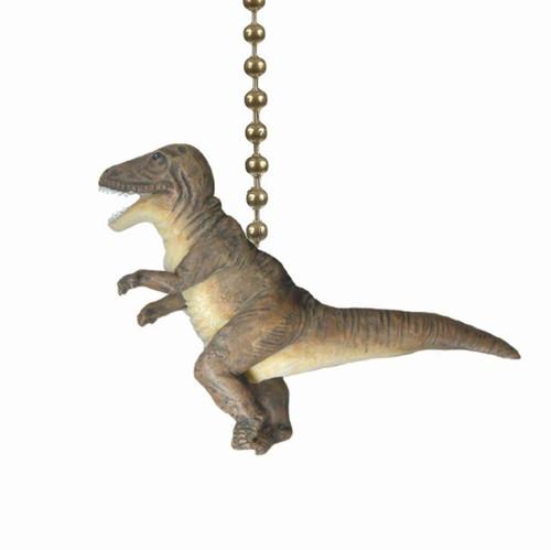 T Rex Dinosaur Ceiling Fan Light Dimensional Pull Resin