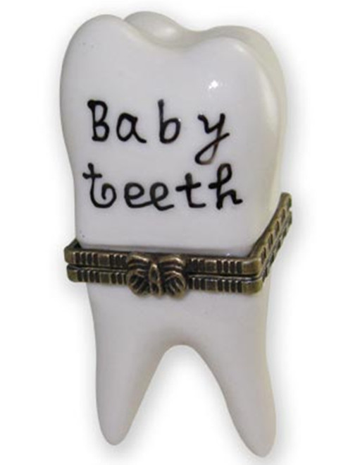 Cute First Baby Tooth Teeth Hinged Trinket Box