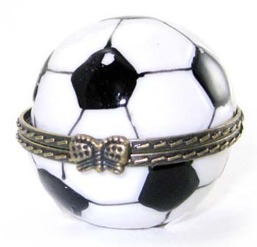 World Cup Soccer Goal Ball Hinged Trinket Box