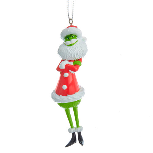 Santa Grinch Christmas Holiday Ornament 4.25 Inches Licensed