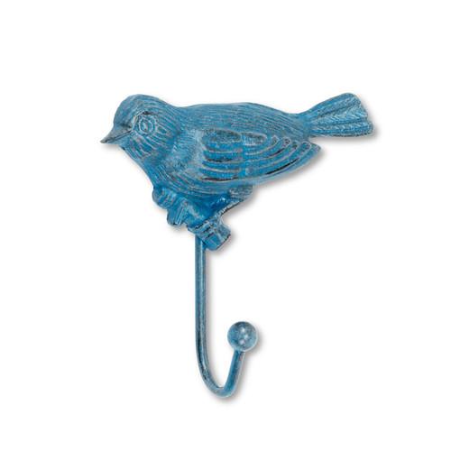 Bluebird Single Wall Hook Antiqued Cast Iron