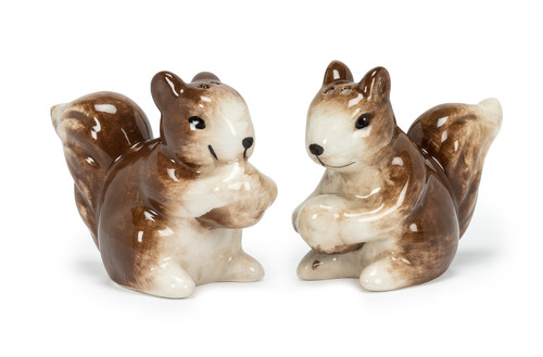 Squirrels Holding Acorns Salt and Pepper Shakers