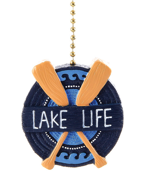 Clementine Design Lake Life Oars Ceiling Fan Light Dimensional Pull Resin Green