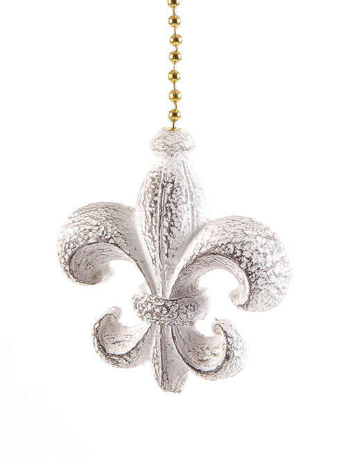 Fleur de lis Ceiling Fan Light Dimensional Pull Resin