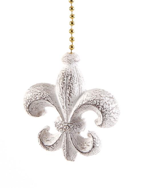Fleur de lis Ceiling Fan Light Dimensional Pull Resin