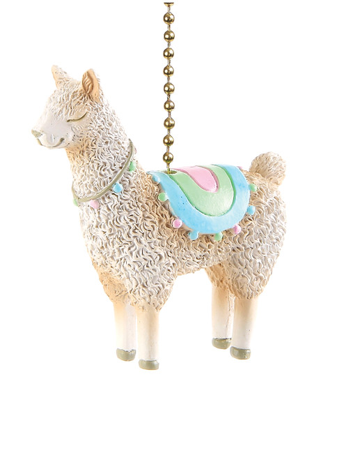 Clementine Design No Drama Llama Ceiling Fan Light Dimensional Pull Resin