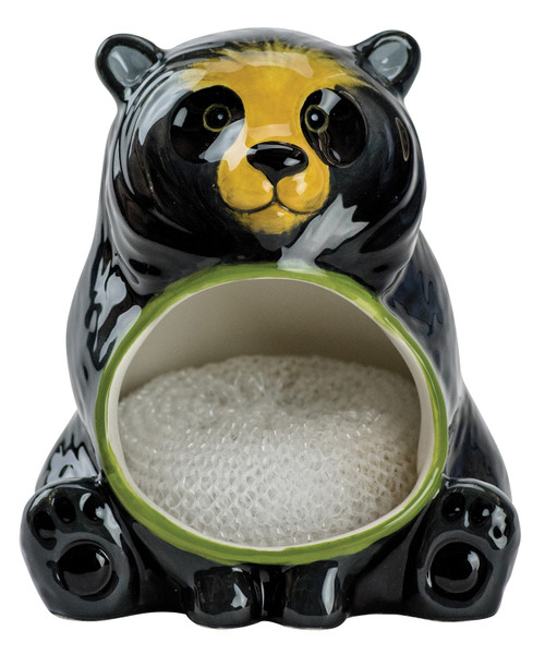 Black Bear Kitchen Scrubby Holder Earthenware