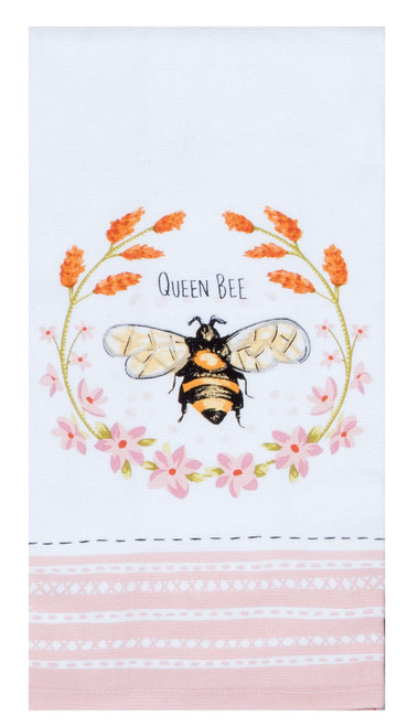 Bee Inspired Queen Bee Dual Purpose Terry Kitchen Dish Towel