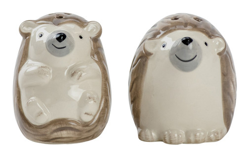 Hedgehog Cuties Salt and Pepper Shaker Set Earthenware