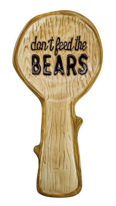 Don't Feed the Bears Kitchen Spoon Rest Earthenware