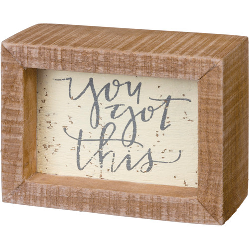 Framed You Got This Inspirational Wood Block Sign