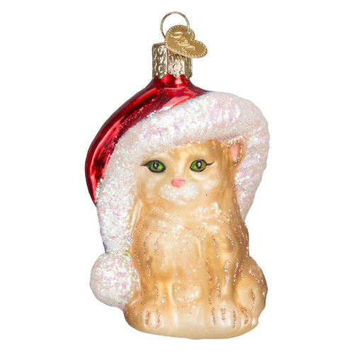 Santas Helper Kitten Christmas Holiday Ornament