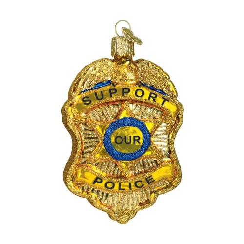 Police Badge Christmas Holiday Ornament