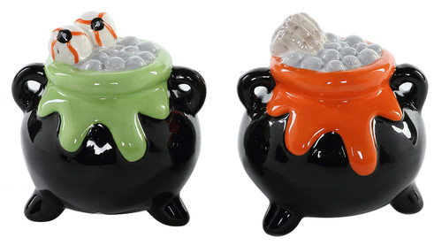 Halloween Bubbling Cauldron Salt and Pepper Shakers