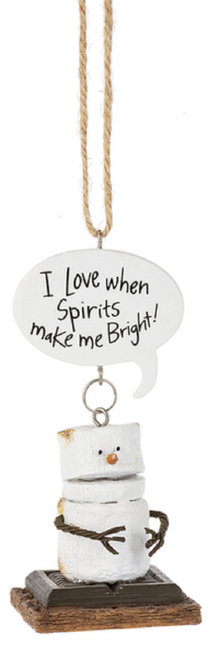 Smores I Love When Spirits Make Me Bright Christmas Holiday Ornament