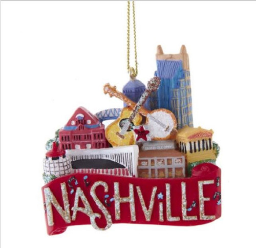 Nashville Home of Grand Ole Opry Christmas Holiday Ornament