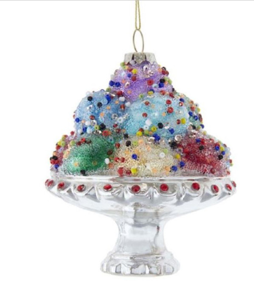 Ice Cream Sundae with Sprinkles Christmas Holiday Ornament