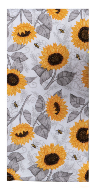 Just Bees Sunflower Toss Dual Purpose Kitchen Terry Towel