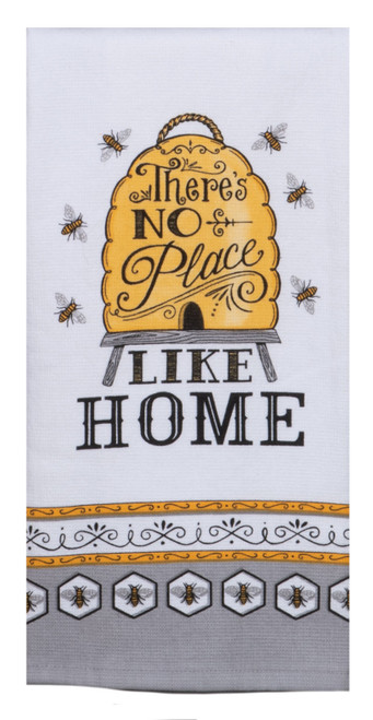 Just Bees No Place Like Home Bee Skep Dual Purpose Kitchen Terry Towel