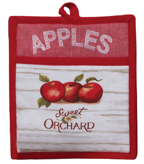 Apple Picking Sweet Orchard Kitchen Pocket Mitt