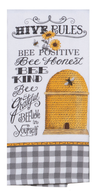 Just Bees Hive Rules Bee Skep Dual Purpose Kitchen Terry Towel