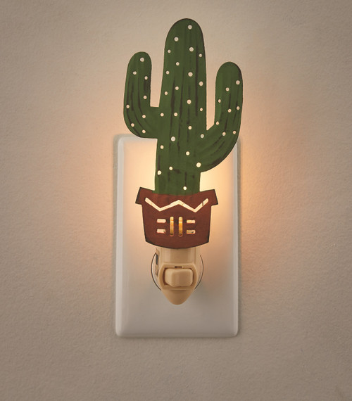 Cactus Shaped Southwestern Inspired Electric Night Light