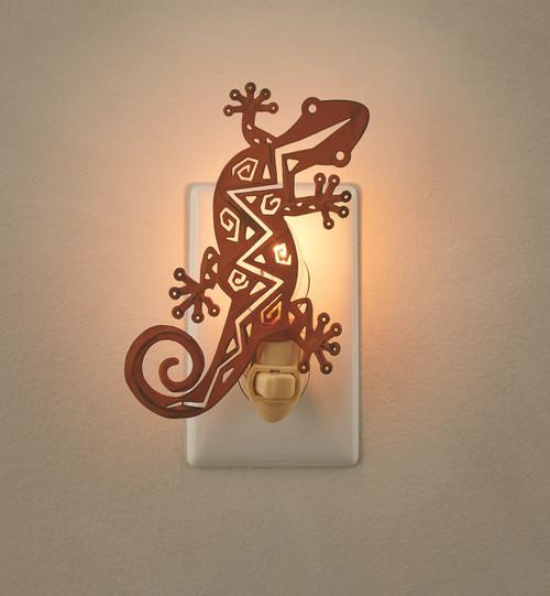 Orange Gecko Southwestern Inspired Electric Night Light