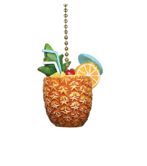 Pineapple Drink Cocktail Ceiling Fan Pull or Light Pull Chain