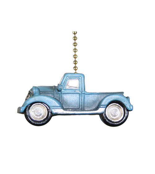 Blue Pickup Truck Farmhouse Ceiling Fan Pull or Light Pull Chain