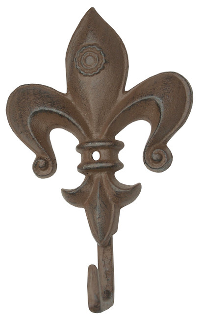 Fleur de Lis Single Wall Hook Cast Iron