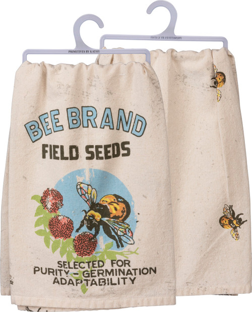 Bee Brand Field Seeds Vintage Look Kitchen Dish Towel Cotton