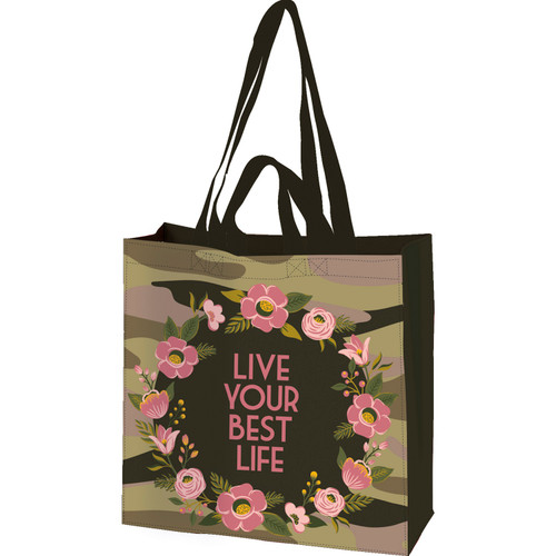 Life Your Best Life Market Tote Bag Reusable Double Sided