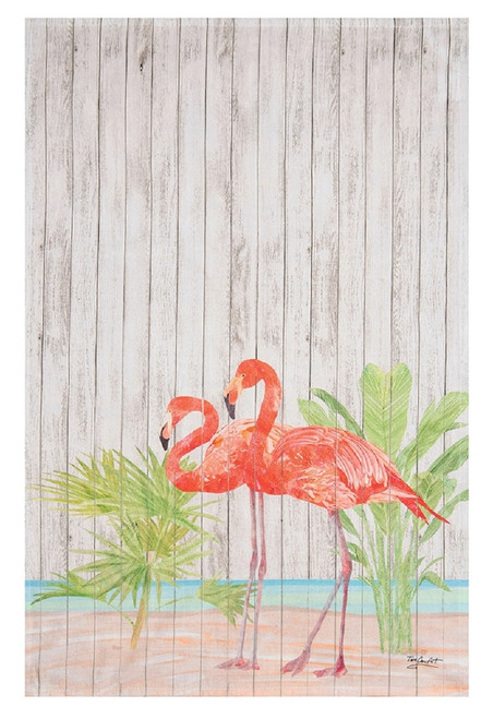 Paradise Flamingo Printed Flour Sack Kitchen Dish Towel Cotton