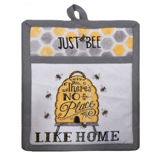 Just Bee Hive Theres No Place Like Home Kitchen Pocket Mitt