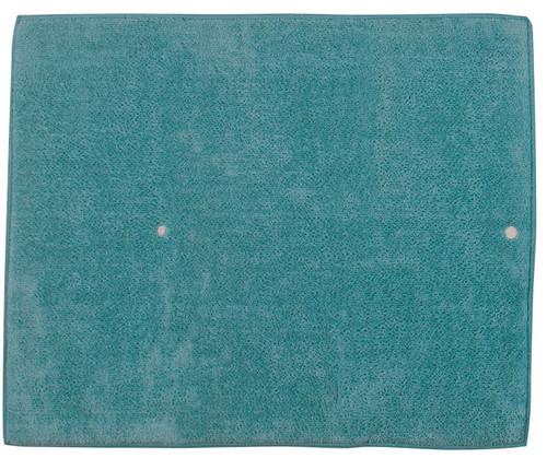 Aqua Haze Teal Blue Kitchen Dish Drying Mat