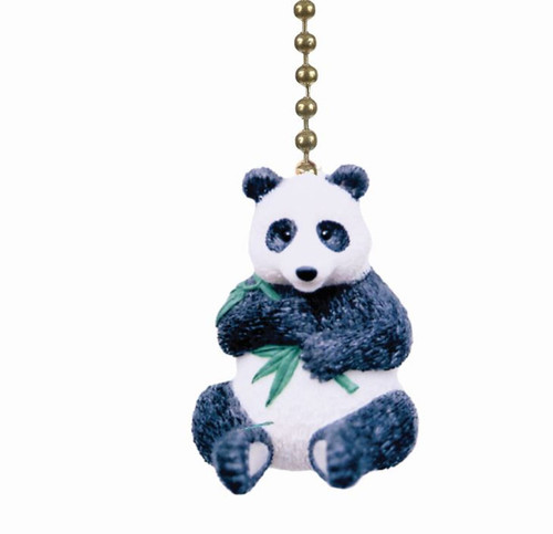 Panda Bear Eating Bamboo Ceiling Fan Light Dimensional Pull