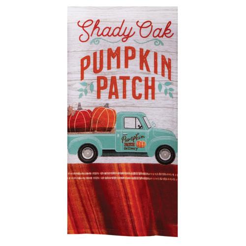 Harvest Tranquility Shady Oak Pumpkin Patch Truck Dual Purpose Kitchen Towel