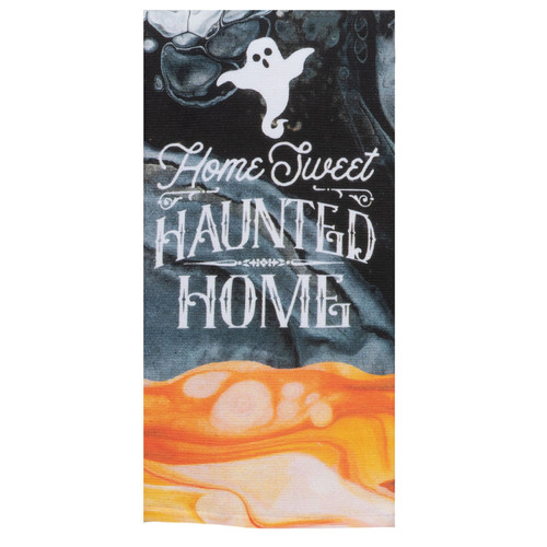 Home Sweet Haunted Home Halloween Dual Purpose Kitchen Terry Towel
