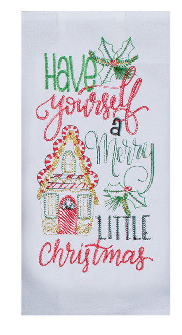 Have a Merry Little Christmas Gingerbread Holiday Flour Sack Kitchen Towel