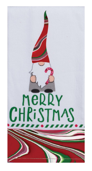 Merry Gnome Christmas Tranquility Dual Purpose Kitchen Terry Towel