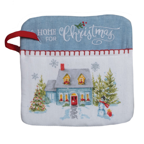 Home for Holiday Christmas Village Kitchen Oven Pocket Mitt