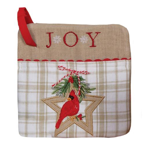 Winter Garden Joy Red Cardinal Christmas Holiday Pocket Mitt