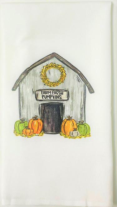 Farmhouse Barn Farm Fresh Pumpkins Kitchen Flour Sack Towel