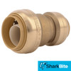 SharkBite Push-Fit Reducing Coupling  - 1 in. x 3/4 in. OD - Lead Free Brass