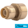 1/2 in. x 3/4 in. FNPT SharkBite Push-Fit Reducing Female Connector - Lead Free Brass