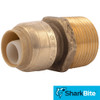 1/2 in. x 3/4 in. MNPT Reducing SharkBite Push-Fit Male Adapter - Lead Free Brass