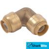 SharkBite Push-Fit - Lead Free Brass Plumbing Fitting - 1/2 in. x 1/2 in. 90 Degree Elbow