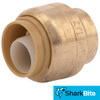 SharkBite Brass Push Cap - Lead Free Brass Plumbing Fitting 1/2 in.