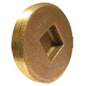 Countersunk Square Head Cleanout Plugs